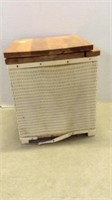Vintage Wicker Portable Potty Chair