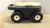 Garden Sitting Rolling Cart & Contents