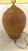 Wicker Basket Style Lamp