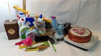 Cleaning Products, Plunger, Scale, Tin with
