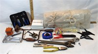 Tools and Plastic Cover Sheet