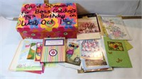 Card Shower Box with Cards & Crossword Books