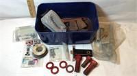 Red Tote, Screws, Antique Hinges, Solder & More