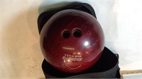 Ebonite Bowling Ball with Case & Shoes