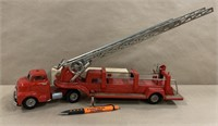 Tin Japanese friction SFD fire truck