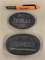 2 B&O RR paper weights
