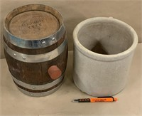 Whiskey barrel & crock
