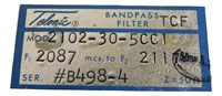 Nasa Apollo Mission  Band Pass Filter