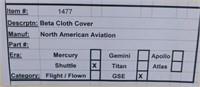 Nasa Space Shuttle  Beta Cloth Cover