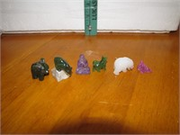 Vintage Glass, Jade & Marble Mini Figurines