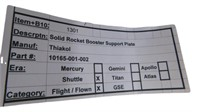 Flown Shuttle Solid Rocket Booster Support Plate
