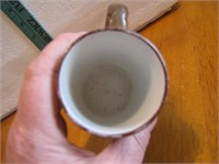 Antique Monk Mug with Advertising Bovox
