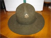 Antique WW1 Campaign Infantry Hat