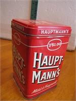 Vintage Haupt-mann's Cigar Tin