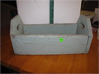 "Primitive Wood Tool Box 16&1/2"" x 8"" x 8"""
