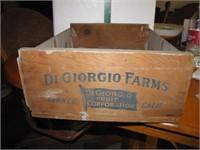 Vtg Wood Digorgio Calfironia Grapes Box