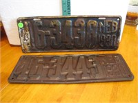 Pair of 1930 Neb License Plates 46-3438