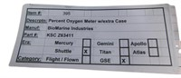 Nasa Space Shuttle Percent Oxygen Meter