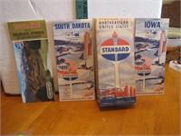 4 Vintage Road Maps