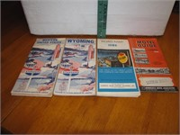 3 Vintage Road Maps & 1 Motel Guide