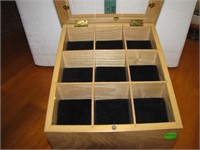 Wood Jewelry Display Case with Drawer