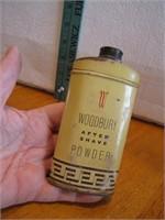 "Vtg Woodbury After Shave Powder Tin 5"""
