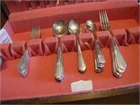 Vtg Service for 8 Silver Plate Flatware READ