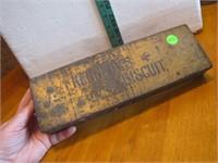 Antique Kennedy's Biscuit Tin 11&1/2x3&3/4x