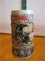 """1989 Coors Beer Stein 7"""""""