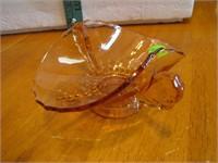 "Vtg Pink Depression Glass Dish 5&1/2"""