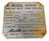 Nasa Apollo Shut off Valve Saturn V