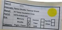 Flown Nasa Space Shuttle Thermal Heat Shield
