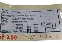 Flown Space Shuttle  Spherical Bearing