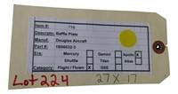 Flown Nasa Apollo Mission  Baffle Plate