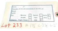 Apollo Misssion Aircraft Instrument Hour Meter