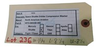 Flown Nasa Space Shuttle  Orbiter Compresion Washe