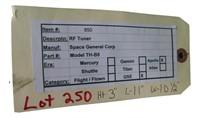 Nasa Apollo Mission RF  Tuner General Corp