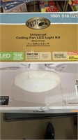 4 assorted ceiling puff lights