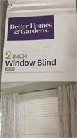 2  2 in white faux wood window blinds