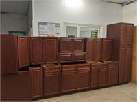 Cherry Glaze 13 pc KC Kitchen Cabinet Set