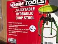 Pair of Adjustable OEM Shop Stools