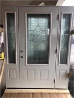 Decorative Entrance Door w/ Sidelights 36x80 LH