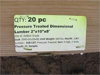 """Pressure Treated 2""""x10""""x8'"""