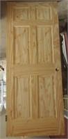 """Pine 6 panel Door 32"""" (Left)"""