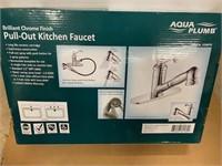 Aqua Plumb Pull out Kitchen Faucet - Nickel