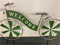 Metal Garden Decor Welcome Bicycle