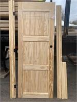 """30""""  Prehung 3 Panel Pine Door"""