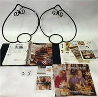 2 Longaberger Racks & Magazines