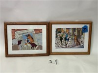 2 Disney Framed Pictures