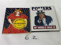 2 Posters of World War II & American Posters Books